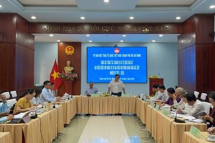 MTTQ thành phố Hồ Chí Minh giám sát công tác bầu cử đại biểu Quốc hội khóa XV và đại biểu HĐND các cấp