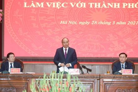 Thủ tướng Nguyễn Xuân Phúc: Môi trường sống Hà Nội cần hướng đến các tiêu chuẩn OECD