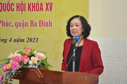100% cử tri tín nhiệm giới thiệu bà Trương Thị Mai ứng cử đại biểu Quốc hội khóa XV