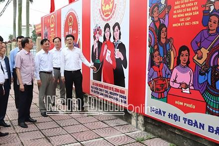 Nam Định: Đẩy mạnh tuyên truyền về bầu cử