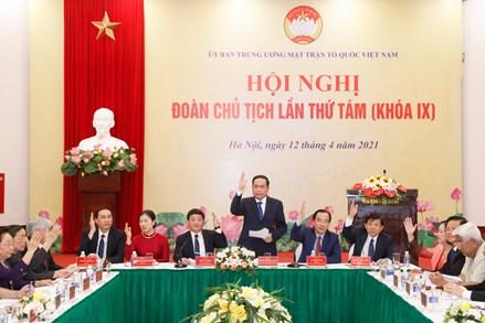Hội nghị lần thứ tám Đoàn Chủ tịch UBTƯ MTTQ Việt Nam: Tập trung thảo luận về công tác nhân sự