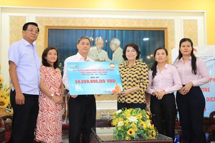 TP Hồ Chí Minh tiếp nhận hơn 34 tỷ đồng ủng hộ mua vaccine phòng dịch COVID-19