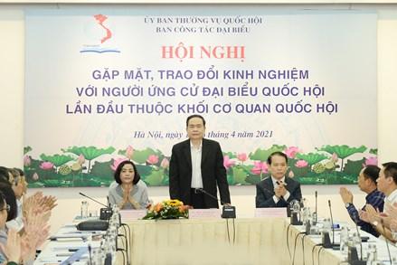 Phó Chủ tịch Thường trực Quốc hội Trần Thanh Mẫn dự Hội nghị trao đổi kinh nghiệm với người ứng cử lần đầu