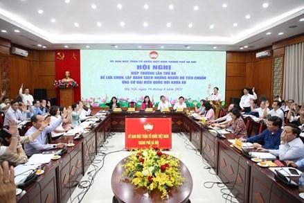 Hà Nội: Thống nhất danh sách 36 người ứng cử ĐBQH