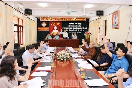 Ninh Bình: Thống nhất biểu quyết cho 2 người có đơn xin rút không tham gia ứng cử đại biểu Quốc hội khóa XV