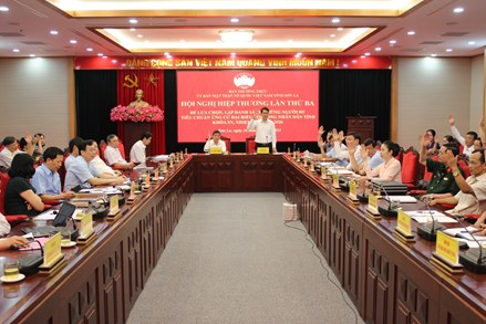 Sơn La thống nhất 10 ứng cử viên ĐBQH và 110 ứng cử HĐND tỉnh