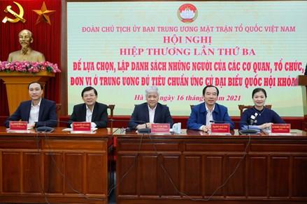 Thông tin báo chí Hội nghị hiệp thương lần thứ ba của Đoàn Chủ tịch UBTƯ MTTQ Việt Nam