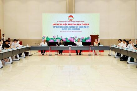 Thống nhất cao danh sách người ứng cử đại biểu Quốc hội khóa XV và đại biểu HĐND các cấp