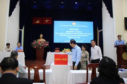MTTQ thành phố Hồ Chí Minh: Bỏ phiếu thông qua danh sách 38 người ứng cử đại biểu Quốc hội khóa XV