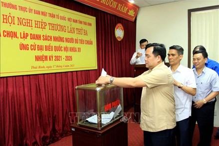 Thái Bình: Chốt danh sách người đủ tiêu chuẩn ứng cử đại biểu Quốc hội và HĐND