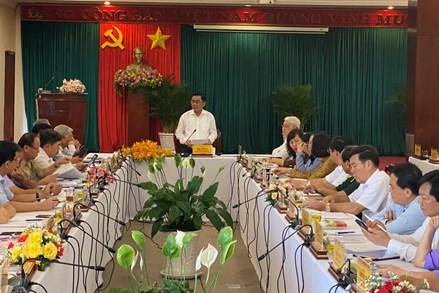 Chủ nhiệm Ủy ban Kiểm tra Trung ương Trần Cẩm Tú kiểm tra công tác chuẩn bị bầu cử tại tỉnh Bình Phước