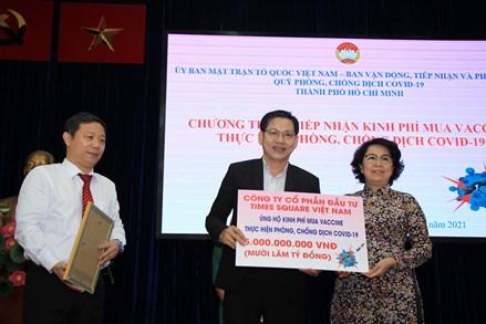 Ủy ban MTTQ Việt Nam TP.HCM: Phát động ủng hộ kinh phí mua Vaccine thực hiện công tác phòng, chống dịch COVID-19