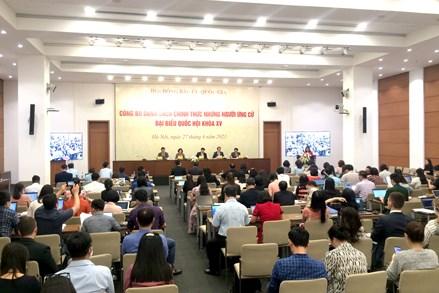 Hội đồng bầu cử Quốc gia: Công bố danh sách 868 người ứng cử đại biểu Quốc hội khóa XV