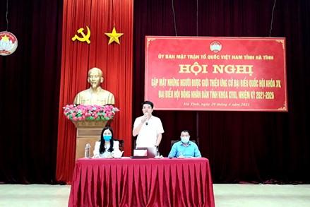 Gặp mặt những người được giới thiệu ứng cử đại biểu Quốc hội và HĐND