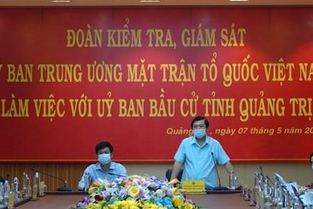 Quảng Trị: Tăng cường kiểm tra, giám sát kỹ các khâu trong bầu cử