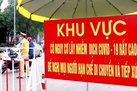 Cách ly y tế ổ dịch tại xã Hiệp Thuận, huyện Phúc Thọ (Hà Nội)