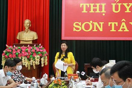 Xây dựng kịch bản phòng, chống dịch để bảo đảm công tác bầu cử tại xã Sơn Tây