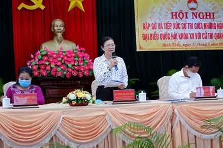 Phó Chủ tịch Trương Thị Ngọc Ánh gặp gỡ và tiếp xúc với cử tri tại quận Bình Thuỷ TP Cần Thơ