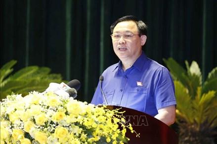 Chủ tịch Quốc hội Vương Đình Huệ vận động bầu cử tại TP Hải Phòng: Toàn tâm, toàn ý thực hiện lời hứa với cử tri