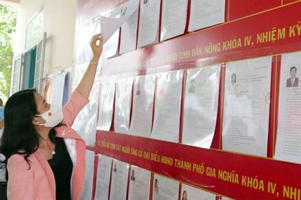 Hội Đồng bầu cử Quốc gia kiểm tra công tác bầu cử tại tỉnh Đắk Nông, Đắk Lắk và Lai Châu