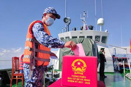 Bạc Liêu: Tổ chức bầu cử sớm trên biển cho lực lượng Biên phòng