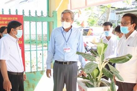 Mặt trận Ninh Thuận kiểm tra công tác bầu cử tại cơ sở