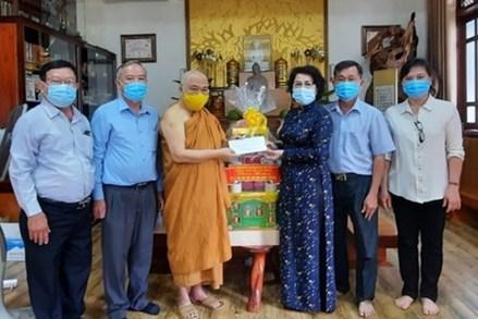 TP Hồ Chí Minh: Thăm, chúc mừng Giáo hội Phật giáo Việt Nam nhân Đại lễ Phật đản, Phật lịch 2565