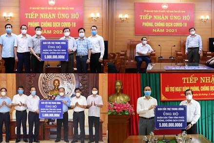 Mặt trận Trung ương hỗ trợ 15 tỷ đồng giúp 3 tỉnh Bắc Giang, Bắc Ninh, Vĩnh Phúc phòng chống dịch Covid-19