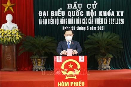 Chủ tịch Quốc hội Vương Đình Huệ bầu cử tại huyện An Lão, Hải Phòng