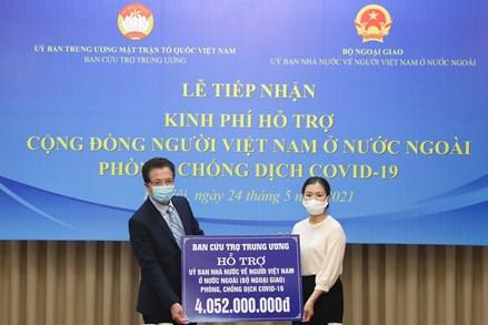 Phó Chủ tịch Trương Thị Ngọc Ánh trao hỗ trợ 4 tỷ đồng giúp bà con kiều bào vượt qua khó khăn do dịch Covid-19