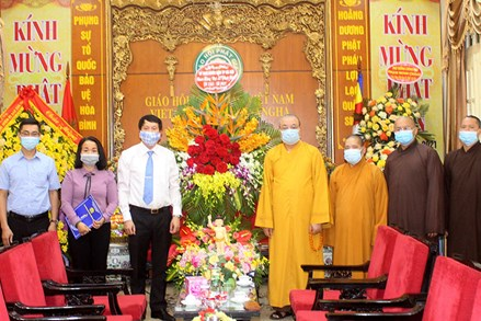 Thành phố Hà Nội chúc mừng Giáo hội Phật giáo Việt Nam nhân Đại lễ Phật đản 2021 - Phật lịch 2565