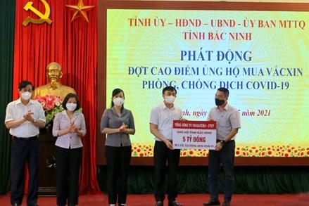 Bắc Ninh: Phát động đợt cao điểm ủng hộ mua vắc xin phòng, chống dịch COVID-19