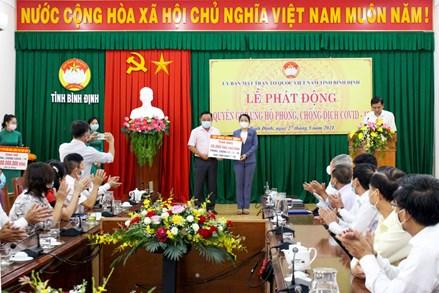 Bình Định: tổ chức Lễ phát động quyên góp phòng, chống dịch Covid-19