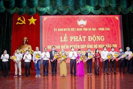 Ủy ban MTTQ Việt Nam tỉnh Bà Rịa - Vũng Tàu: Tiếp nhận hơn 160 tỷ đồng mua vaccine và phòng, chống dịch COVID-19