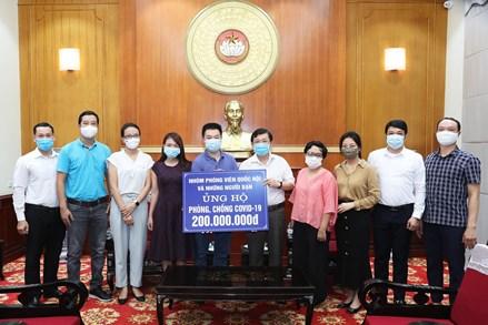 Nhóm phóng viên Quốc hội và những người bạn ủng hộ công tác phòng chống dịch COVID-19