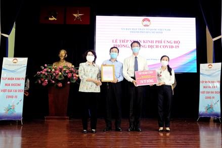 Ngày 9/6: TP. Hồ Chí Minh tiếp nhận hơn 99 tỷ đồng vào Quỹ phòng, chống dịch Covid-19