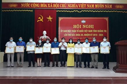 MTTQ Việt Nam tỉnh Quảng Trị: Sơ kết công tác Mặt trận 6 tháng đầu năm 2021