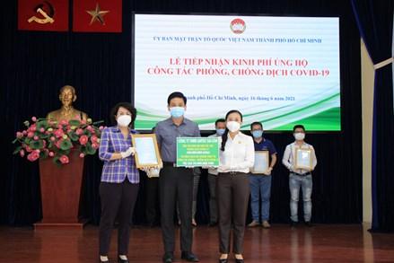 Ngày 16/6: Thành phố Hồ Chí Minh tiếp nhận số tiền ủng hộ trên 21 tỷ đồng từ 57 tổ chức, cá nhân