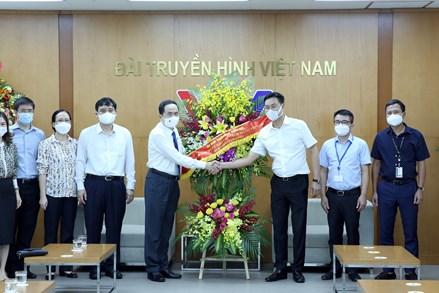 Phó Chủ tịch Thường trực Quốc hội Trần Thanh Mẫn chúc mừng Đài Truyền hình Việt Nam, Đài Tiếng nói Việt Nam