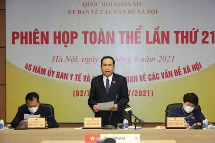 Phó Chủ tịch Thường trực Quốc hội Trần Thanh Mẫn dự phiên họp toàn thể Ủy ban về các vấn đề Xã hội