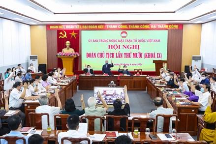 Đoàn Chủ tịch UBTƯ MTTQ Việt Nam thông qua tờ trình giới thiệu nhân sự giữ chức Phó Chủ tịch - Tổng Thư ký