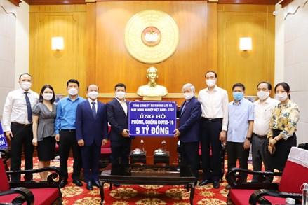 Tổng công ty Máy động lực và Máy nông nghiệp Việt Nam ủng hộ 5 tỷ đồng tới nơi tuyến đầu chống dịch