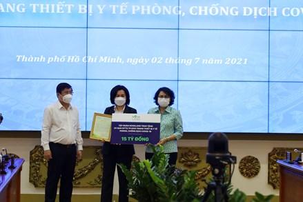 Thành phố Hồ Chí Minh: Tiếp nhận 279 tỷ đồng hỗ trợ trang thiết bị phòng, chống dịch