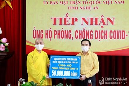 Nghệ An: Các cơ sở tôn giáo chung tay hỗ trợ người dân vùng dịch