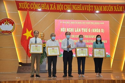 Quảng Nam: Mặt trận tiếp tục vận động nhân dân đoàn kết, hăng hái thi đua hoàn thành tốt nhiệm vụ năm 2021
