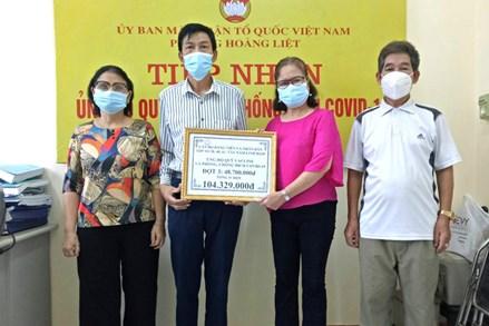 Quận Hoàng Mai - thành phố Hà Nội: Tiếp nhận hơn 12 tỷ đồng ủng hộ Quỹ vaccine