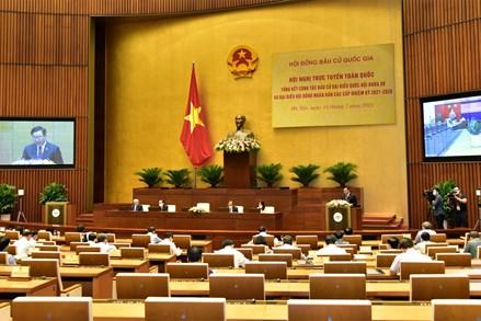 Hội nghị trực tuyến toàn quốc tổng kết công tác bầu cử đại biểu Quốc hội Khóa XV và đại biểu HĐND các cấp nhiệm kỳ 2021 – 2026