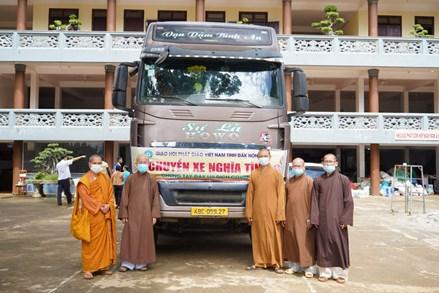 Đắk Nông: Phật giáo tỉnh gửi tặng 50 tấn nông sản về TP. Hồ Chí Minh và Đồng Nai