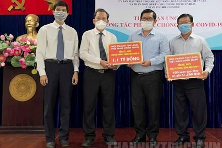 Tổng Liên hội Hội thánh Tin Lành Việt Nam (miền Nam) hỗ trợ 1,1 tỷ đồng cho Quỹ phòng, chống dịch Covid-19 TP Hồ Chí Minh