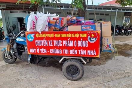 Tây Ninh: Những chuyến xe yêu thương mang cả tâm tình tới người dân vùng dịch